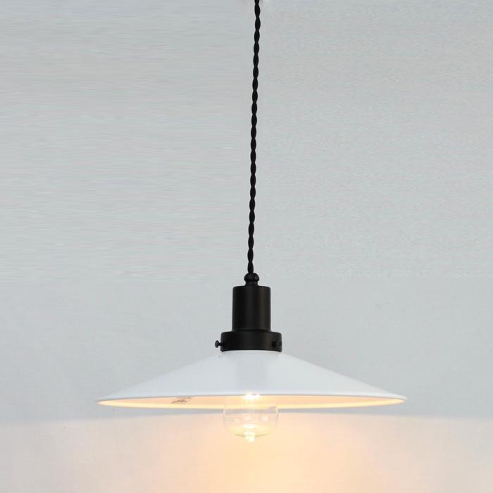 コンビカラーが新鮮 本店 ご注文で当日配送 後藤照明ネジリコードアルミP1L CP型アンティークランプ球60W55cmコードホワイトXブラック