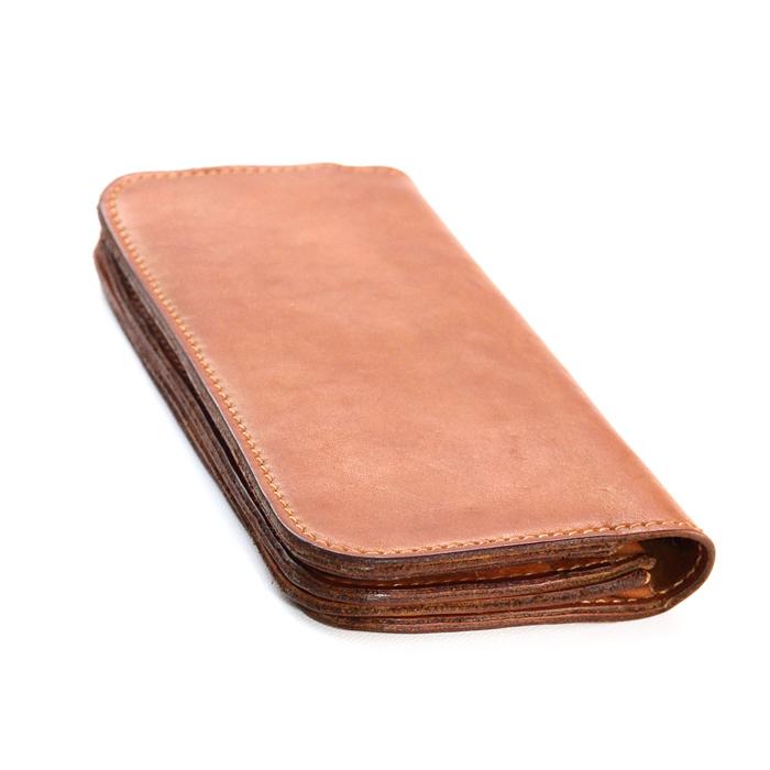 leatheria 激安格安割引情報満載 レザリア long wallet長財布キャメル 代引き不可