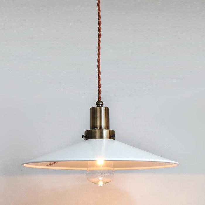モダンな白の照明 日本正規品 後藤照明ネジリコードアルミP1L CP型アンティークランプ球60W55cmコードホワイトXブラウン 優先配送