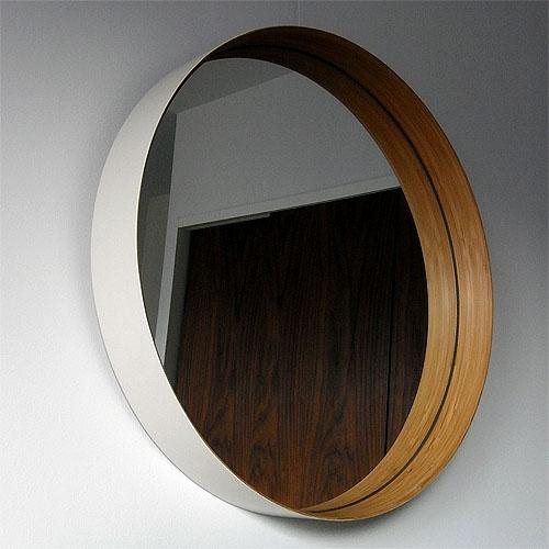 テオリ壁掛け鏡ZERO Mサイズ乳白色