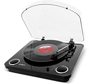 【送料無料】 ION Audio Max LP レコードプレーヤー USB端子 スピーカー内蔵 ピアノブラック (取寄商品)