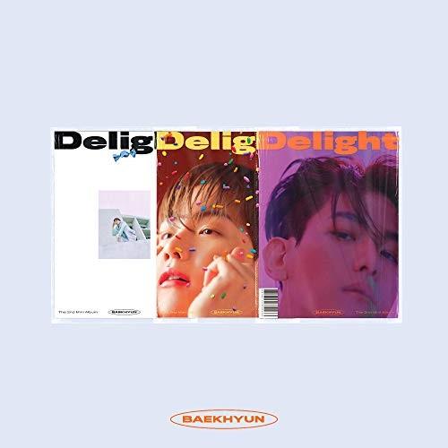 取寄商品 CD Delight: 2nd Mini 発売モデル 開催中 Album ランダムバージョン Baekhyun EXO SMK1159 輸入盤 5 29発売