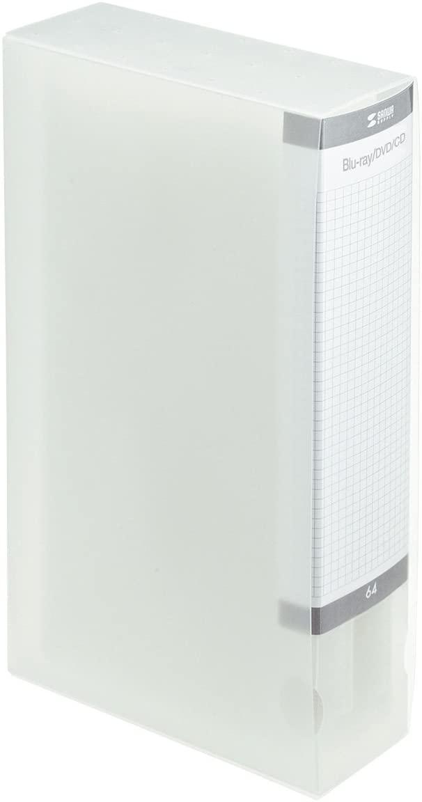 内祝い サンワサプライ ブルーレイディスク対応ファイルケース 64枚収納 クリア FCD-FLBD64C メーカー取寄 本店