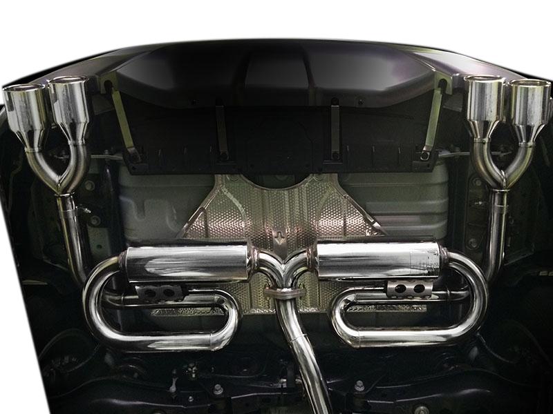 NX200t用PFSループサウンドマフラー(モデリスタバンパー:スルガテール仕様)【チタンテール】