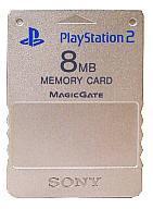 【中古】PS2ハード プレイステーション2専用メモリーカード 8MB サテン・シルバー