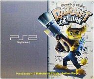 【中古】PS2ハード プレイステーション2本体 トイザらス限定 トイズブルー『ラチェット&クランク』パック