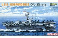 【中古】プラモデル 1/700 U.S.S. インディペンデンス CVL-22(1943年)「MODERN SEA POWER SERIES」 プレミアムエディション [7054]
