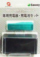 【中古】ワンダースワンハード 充電器・充電池セット(スケルトングリーン)