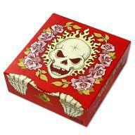 【中古】ボードゲーム 髑髏と薔薇 赤箱 (Skull & Roses Red)