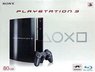 【中古】PS3ハード プレイステーション3本体 クリアブラック(HDD 80GB)(状態:コントローラー欠品)