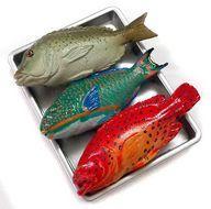 中古 トレーディングフィギュア 市場に並ぶ熱帯魚 超激安特価 数量は多 フィギュア版 沖縄物産展 サッポロビール 2004年 ローソン限定版 キャンペーン品