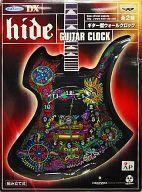 【中古】置き時計・壁掛け時計(男性) hide(ブラック×サイケデリック柄) ギター型ウォールクロック