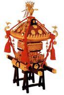 【中古】プラモデル 模型 1/5 江戸神輿 茶塗朱房