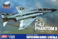 【中古】プラモデル 1/48 F-4J ファントムII 「スーパーウイングシリーズ No.4」