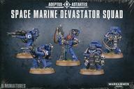 【中古】ミニチュアゲーム スペースマリーン ディヴァステイター・スカッド 「ウォーハンマー40.000/スペースマリーン」 (Space Marine: Devastator Squad) [48-15]