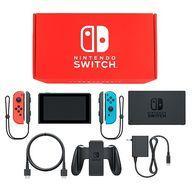 【中古】ニンテンドースイッチハード Nintendo Switch本体 カラーカスタマイズ /Joy-Con(L)ネオンレッド(R)ネオンブルー/Joy-Conストラップ(L/R)ブラック