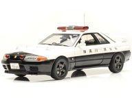 【中古】ミニカー 1/18 NISSAN スカイライン GT-R(R32) 神奈川県警(ブラック×ホワイト) [K08366A]