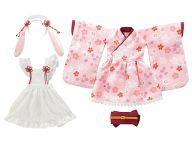 【中古】ドールアクセサリー PNS用 うさミミ和装メイドset ~撫子桜~ (ピンク)【タイムセール】