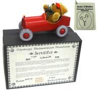 【中古】おもちゃ ブリキ玩具 オープンカーに乗ったテディベア ティントイ