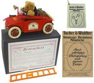 【中古】おもちゃ ブリキ玩具 消防車に乗ったテディベア ティントイ