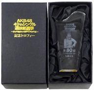 【中古】小物(女性) [単品] 松岡はな(HKT48)/80位 個別レプリカトロフィー 「AKB48 49thシングル選抜総選挙~まずは戦おう!話はそれからだ~」 AKB48グループショップ予約限定