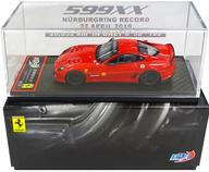 【中古】ミニカー 1/43 FERRARI 599XX NURBURGRING RECORD 22 APRIL 2010 SHELL(レッド) [BBRC43]
