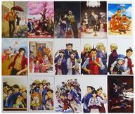 【中古】ポストカード(キャラクター) [単品] 集合 ポストカード15枚セット 「3DSソフト 逆転裁判1~6 イーカプコン限定版 BOX&POSTCARD SET」 同梱特典【タイムセール】