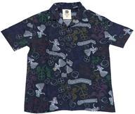 【中古】ポロシャツ・ワークシャツ(女性アイドル) ももいろクローバーZ ももクロ 10th Anniversary オリジナルアロハシャツ ブラック Sサイズ 「ももクロ ポシュレの玉手箱だZ」