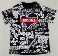 【中古】Tシャツ(女性アイドル) 浜崎あゆみ Tシャツ ブラック Sサイズ 「ayumi hamasaki TROUBLE TOUR 2019-2020 A -misunderstood-」