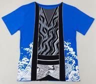 【中古】Tシャツ(男性アイドル) 喜矢武豊(ゴールデンボンバー) キャンさんが演じたアレ風なTシャツ ブルー Lサイズ 2019バースデーグッズ