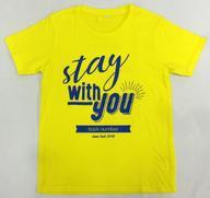 """【中古】Tシャツ(男性アイドル) back number レタリングTシャツ イエロー XSサイズ 「back number dome tour 2018 """"stay with you""""」"""