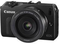 【中古】カメラ Canon ミラーレスカメラ EOS M EF-M22 STM レンズキット 1800万画素 (ブラック) [EOSMBK-22STMLK] (状態:箱・インターフェースケーブル欠品)