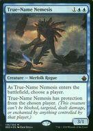 【エントリーで全品ポイント10倍!(9月1日09:59まで)】【中古】マジックザギャザリング/英語版FOIL/神話R/バトルボンド/青 [神話R] : 【FOIL】True-Name Nemesis/真の名の宿敵