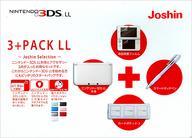 【中古】ニンテンドー3DSハード ニンテンドー3DSLL本体 3+PACK LL Joshin Selection (ブラック)