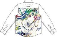 【新品】衣類 白金燐子 Ani-Art フルグラフィックカジュアルシャツ ホワイト ユニセックス Lサイズ 「BanG Dream! ガールズバンドパーティ!」【タイムセール】