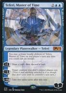 中古 マジックザギャザリング 英語版 神話R 青 基本セット2021 Time of 爆安プライス Master :Teferi, 時の支配者 情熱セール テフェリー
