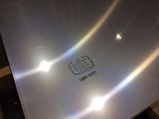 DIY 新生活 日曜大工 即出荷 補修などに使用される ステンレスの耐熱鋼種 ステンレス SUS 2.0mmx1000mmx2000mm 板厚 2B 310S