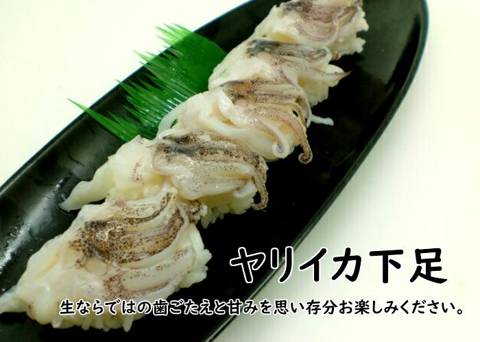 すしねた やりいか げそ ゲソ 品質保証 槍いか のせるだけ 手巻き寿司 刺身用 生食用 寿司ネタ お値打ち価格で ヤリイカ下足6g×20枚
