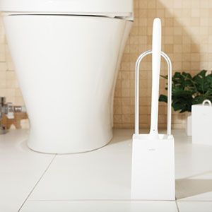 Nice toilet brush w / case with toilet toilet cleaning toilet brush カラートイレ brushes with case brush 02P28oct13