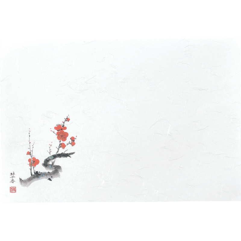 四季 紙ランチョンマット100枚入5セット【ペーパーマット(梅2~3月)】返品不可品[えいむ ランチョンマット 紙製]