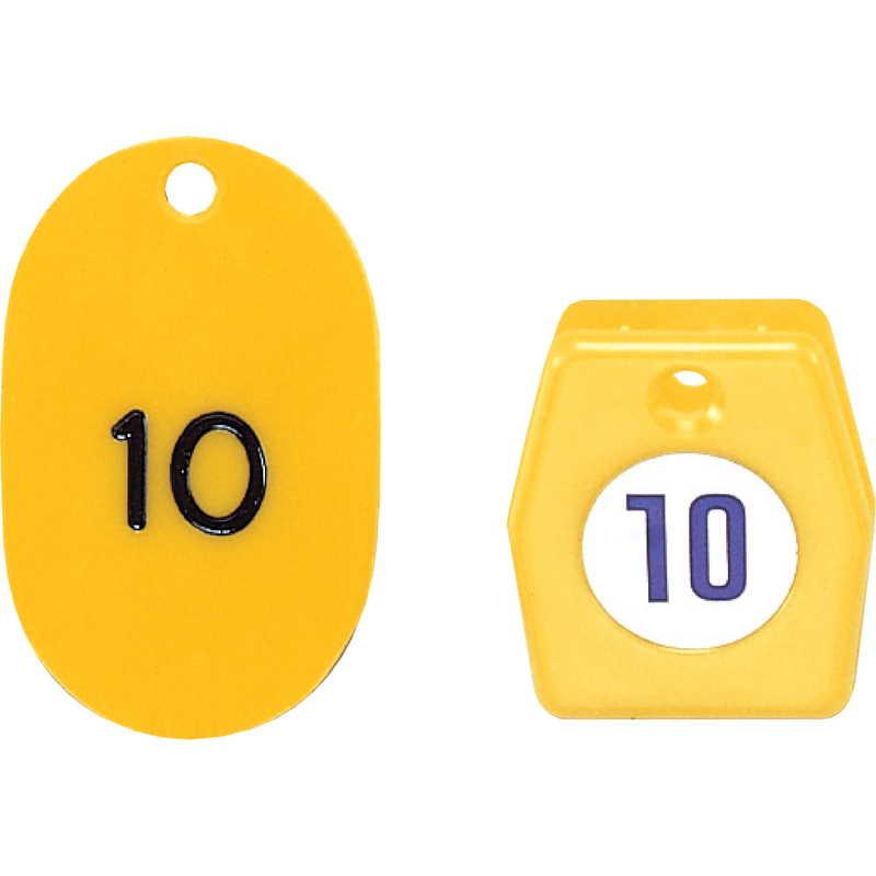 スチロールクロークチケットA型 (2セット)【ZT-クローク札No.01-50 (151-200)】返品不可品 [シンビ ホテル用品 クローク札]