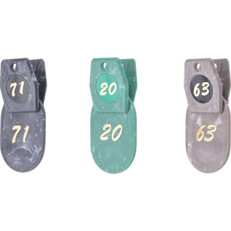 マーブルクロークチケット(2枚1組) (2セット)【ZT-マーブルクローク札-50(51-100)】[シンビ ホテル用品 クローク札]