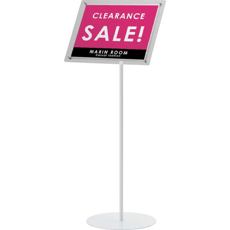 屋内用フロアスタンド タテ ヨコ兼用 ZV-2333S-WA4-60 店頭販促用品 スーパーSALE セール期間限定 返品 代引不可品 シンビ 開店記念セール