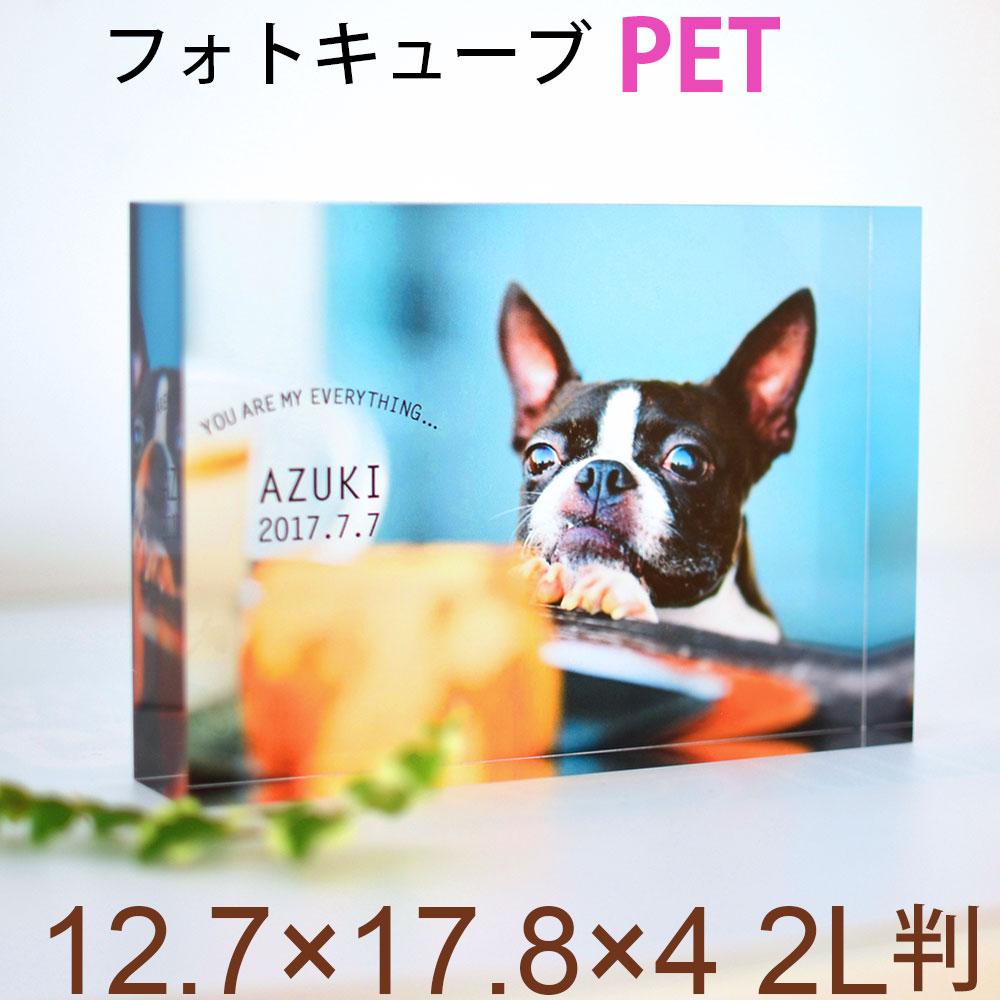 母の日ギフト 写真入り プレゼント フォトキューブ 写真2L判サイズ 犬 記念写真 猫 遺影 ペット フォトフレーム 写真立て 母の日 プレゼント 花以外