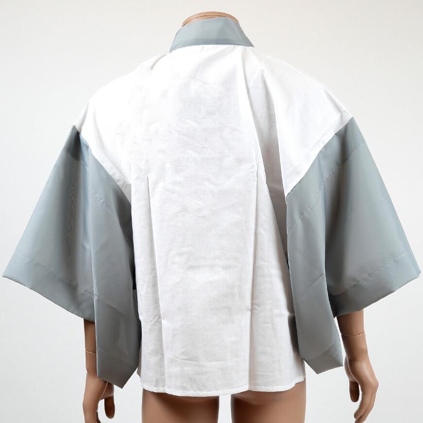 八重の下着本舗 紳士用 綿100%別織さらし天竺 半衿付き 半襦袢 (M・L)(YAE メンズ 男性用 はんじゅばん 和装下着 浴衣 作務衣 礼装 着付け 日本製)ON【和装呉服】【取寄せ】