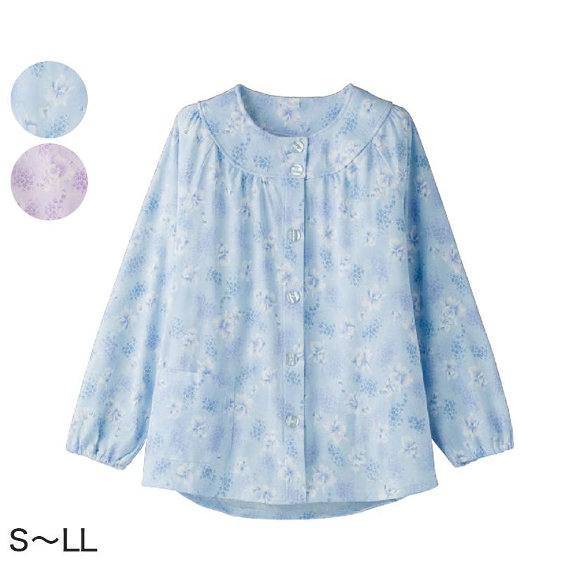 贈り物 レディース パジャマ 婦人 大きめボタンパジャマ 上衣 日本製 送料無料 S~LL 取寄せ 上着