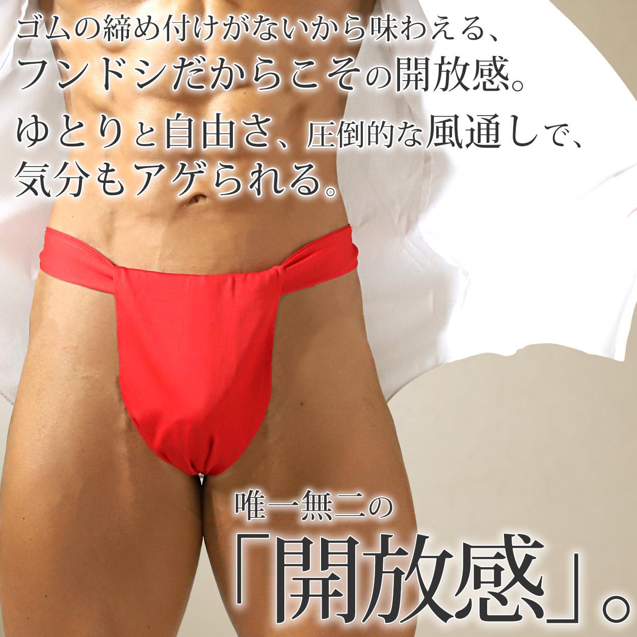 紳士風水カラー六尺褌 フリーサイズ (ふんどし 綿100%)