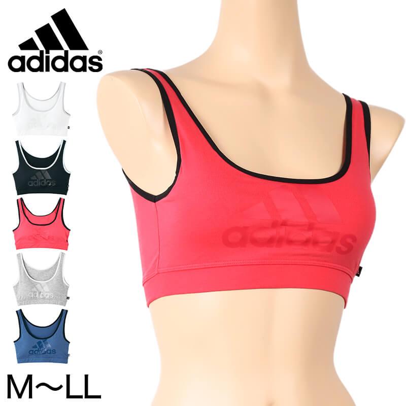 さりげないビッグロゴがクールなインナー グンゼ アディダス ハーフトップ M~LL GUNZE adidas 取り外しパッド付 スポーツインナー 吸汗速乾 在庫限り 海外輸入 シンプル 正規激安 レディース
