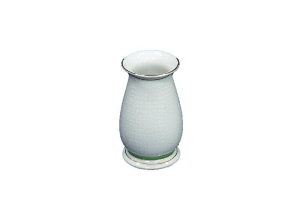 プレゼント 小さいお仏壇にも飾れる九谷焼の花瓶高さ12cm 九谷焼花瓶白七宝4号 出群