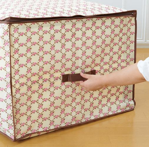 【期間限定】【定形外郵便】布団・こたつ布団収納袋 チェック花柄